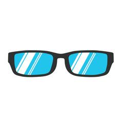 glasses reading icon isolated eye black style vector image