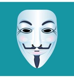 Guy Fawkes mask stylised depiction isolated on vector image