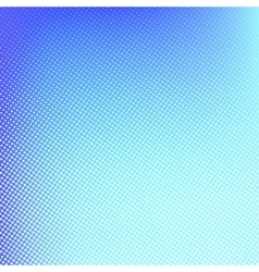 Halftone background Blue spotted pattern vector image vector image
