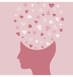 Love head vector image