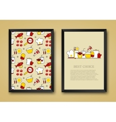 modern background of flat food vector image vector image