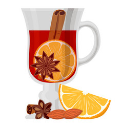 mulled wine poster on white background vector image