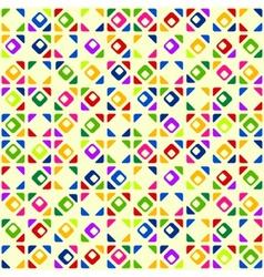 Seamless bright geometric pattern vector