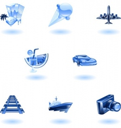 travel and tourism icon set vector image