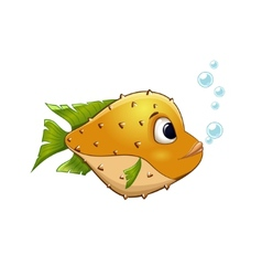 yellow fish on isolated background vector image