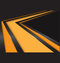 abstract yellow arrow speed direction on black vector image