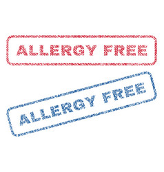 Allergy free textile stamps vector