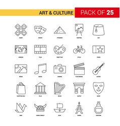 Art and culture black line icon - 25 business vector