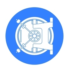 Bank vault icon in black style isolated on white vector image