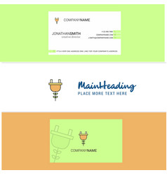 beautiful plough logo and business card vertical vector image