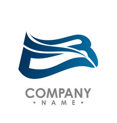 bird wings logo winged logo company and icon vector image