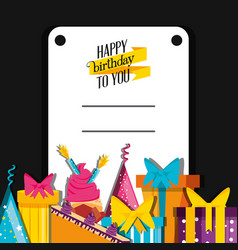 birthday card with decoration vector image