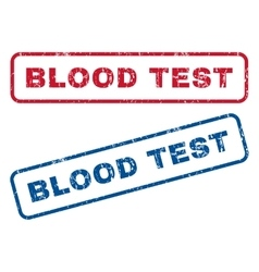 Blood Test Rubber Stamps vector