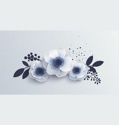 bouquet anemones flowers vector image
