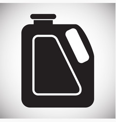 Car lubricant canister on white background for vector