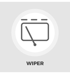 Car wiper flat icon vector image