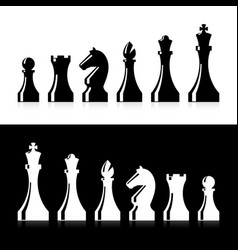 chess pieces icons vector image