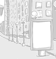 citylight in the city draw graphic design vector image