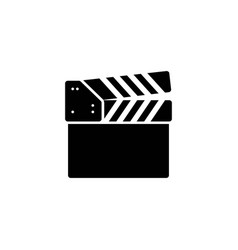 clapperboard glyph icon vector image