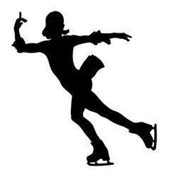 dancing woman skater vector image