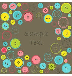 Decorative Frame with Circle of Buttons over Dark vector