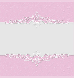 Delicate frame in pink colors for wedding vector