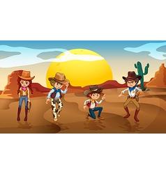 Desert Cowboy Cowgirl vector