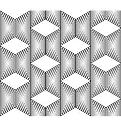 Design seamless monochrome trapezium pattern vector
