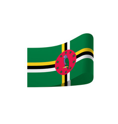 Dominica flag vector
