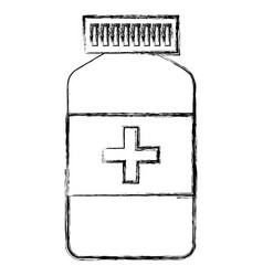 drugs bottle isolated icon vector image