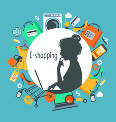 e-shopping vector image