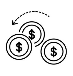 Economy and finance money turnover or exchange vector
