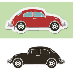 Famous vintage german beetle car vector