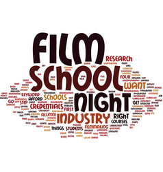 Film night school text background word cloud vector