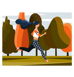 fit young woman jogging during her daily workout vector image