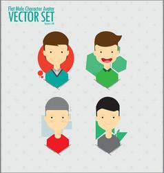 Flat Character Avatar Set vector