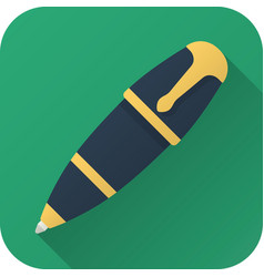 flat icon toy ball pen vector image