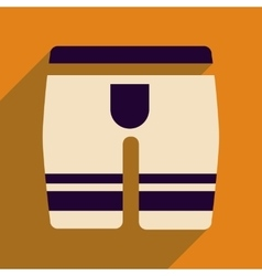 Flat icon with long shadow mens underwear vector