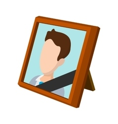 Frame with mourning ribbon cartoon icon vector