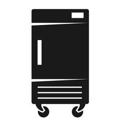 Freezer on wheels icon simple style vector