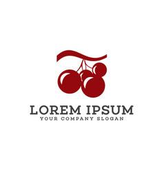 grape logo design concept template vector image