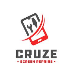 handphone repair technology logo vector image