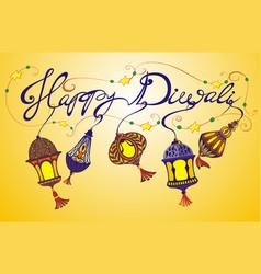 happy diwali holiday background vector image