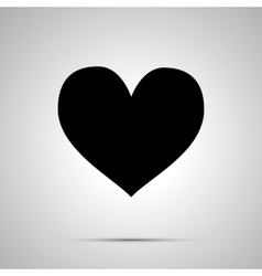 Heart simple black icon vector image