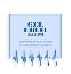 Heartbeat cardiograph lines medical and vector