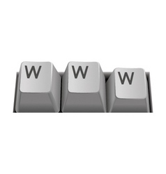 internet keyboard www vector image