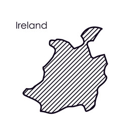 Isolated ireland map design vector