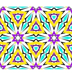 Kaleidoscopic Geometric Seamless Pattern vector image