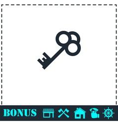 Key icon flat vector