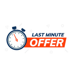 Last minute deal promo banner special minute vector